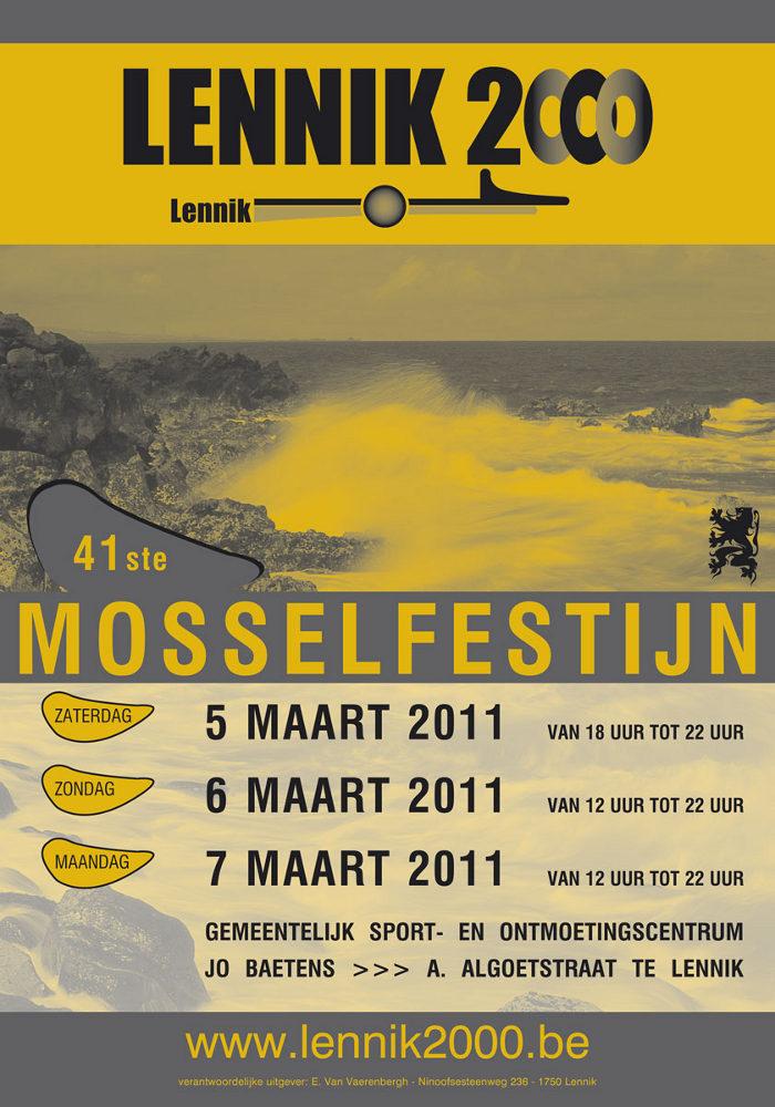 affiche Mosselfeest 2011 - vergroot