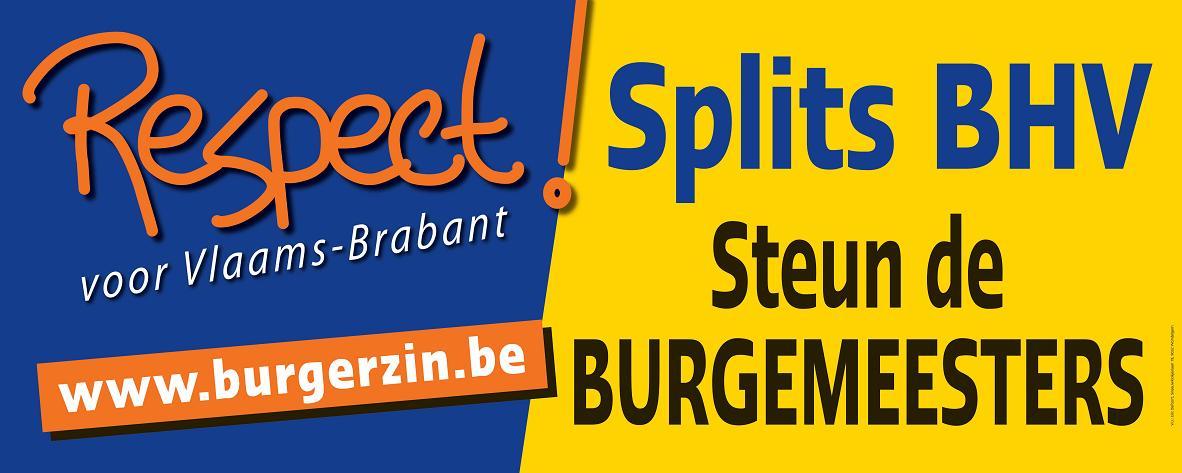 Steun de burgemeesters, splits Brussel-Halle-Vilvoorde